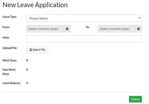 Activ8 New Leave Application Form