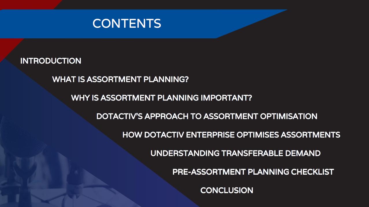 Assortment Planning Ebook New Contents
