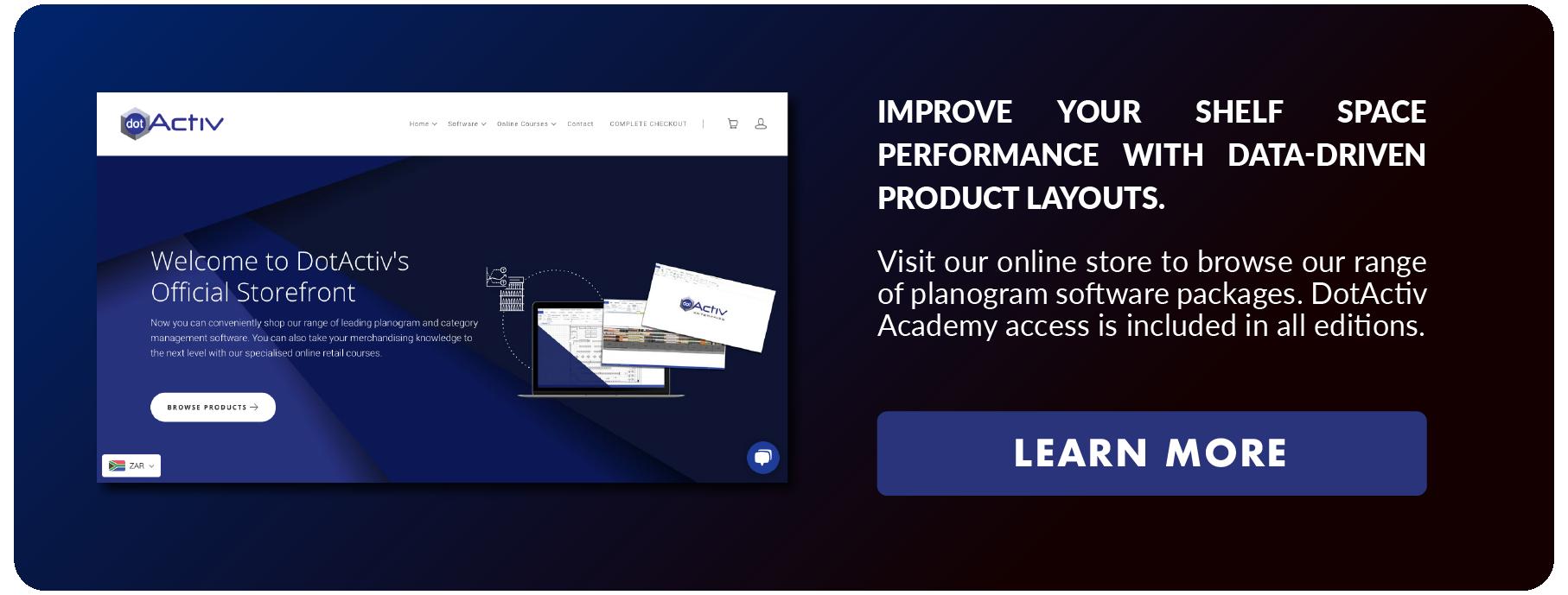 Data-Driven Product Layouts Dark Blue