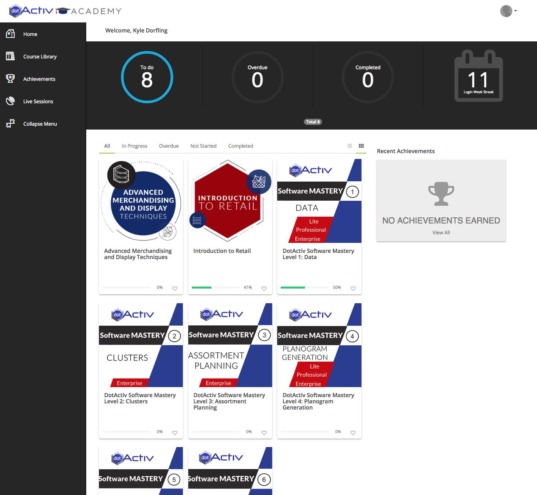 DotActiv Enterprise Academy Dashboard