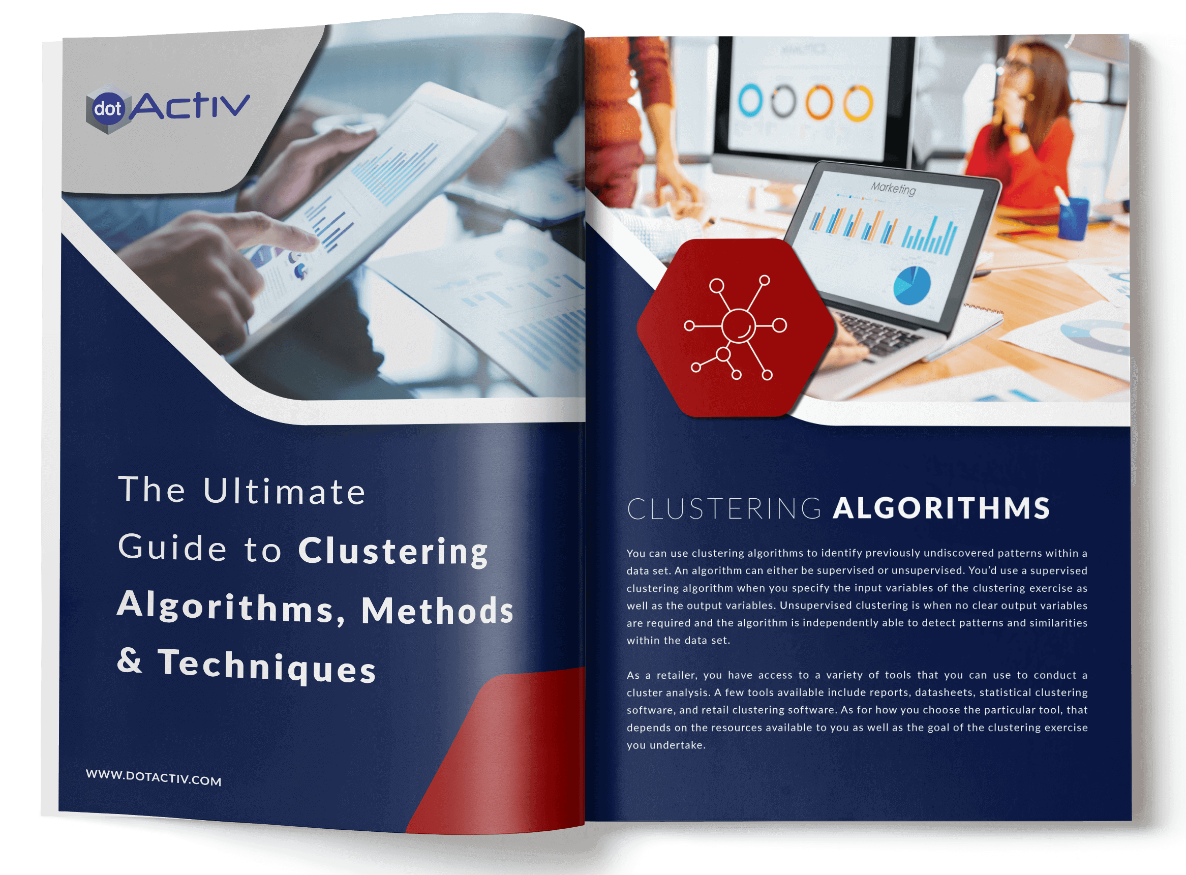 EBook The Ultimate Guide to Clustering Algorithms, Methods and Applications mockup