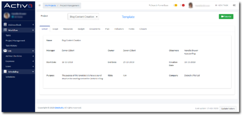 Manage Additional Project Data