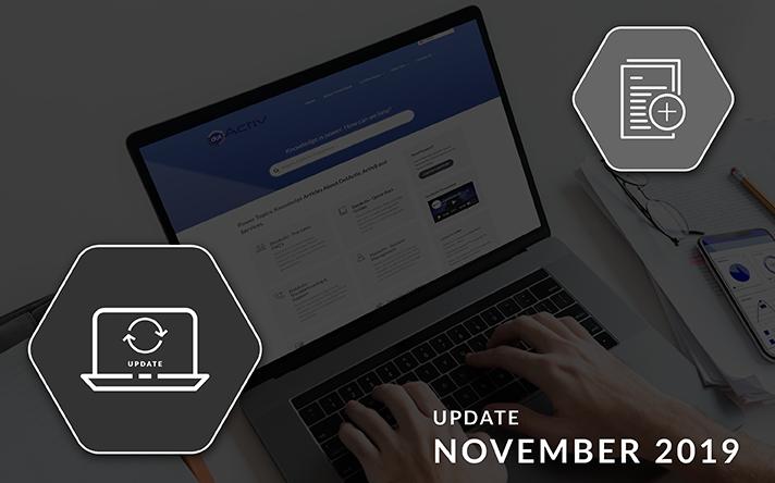PowerBase Updates November 2019