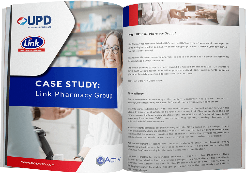 UPD and Link Pharmacy Case Study - Mockup
